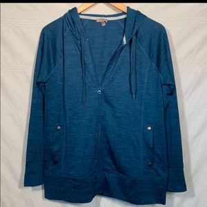 T by Talbots Zip Up Lightweight Hooded Jacket